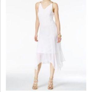 Thalia Sodi white flowy white sheer dress